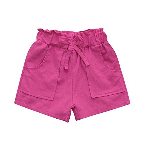 Hirolan Baby Mädchen Kurze Hose Pumphose Sommershorts Kinderbekleidung Bowknot Strandkleidung Hose Kleider Strampelhose Badebekleidung...