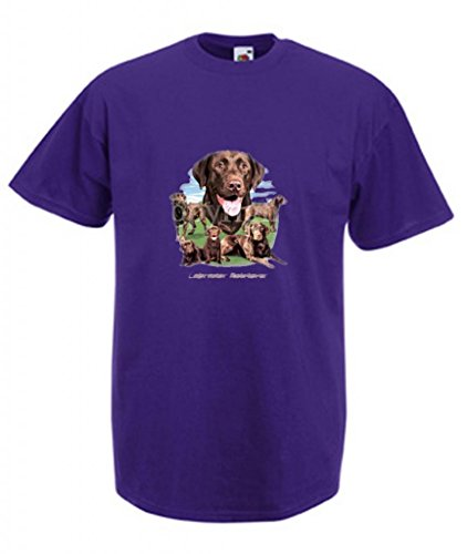 Erwachsene Schokolade Tee T-shirt (Simply Tees Einfach Tees Schokolade Labrador Retriever Collection Erwachsene T-Shirt Gr. XX-Large, Violett)