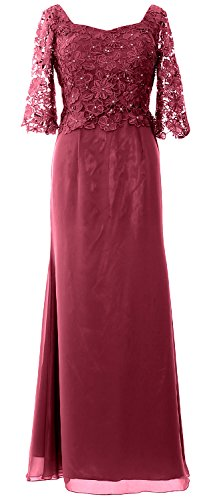 MACloth -  Vestito  - linea ad a - Maniche corte  - Donna Wine Red 54