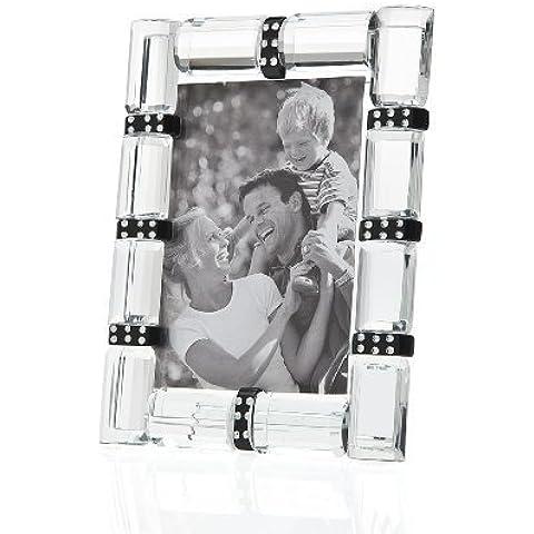 Godinger Cherish 3x5 Banded Crystal Photo Frame by Godinger
