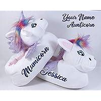 Personalize Women's Slippers Unicorn Christmas Gift - Mumicorn, Aunticorn Birthday Present