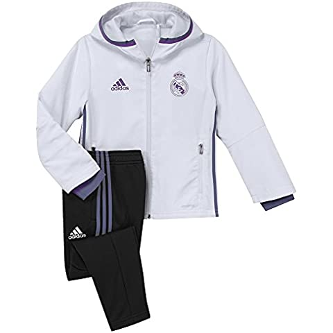 adidas Real Madrid Cf Pre I - Chándal para niños de 4-5 años, color blanco / morado