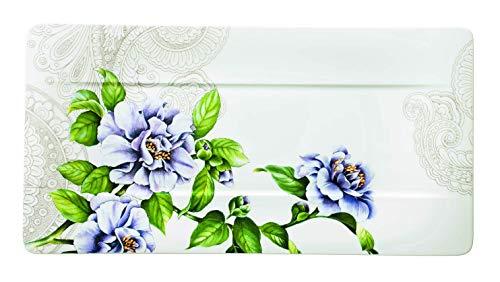 Villeroy & Boch quinsai Garten Servieren Teller, Porzellan, Mehrfarbig, 35x 18cm Flower Garden Teller