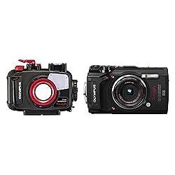 Olympus Tough TG-5 Open Water Diver Kit (TG-5 Digitalkamera schwarz + PT-058 Unterwassergehäuse)