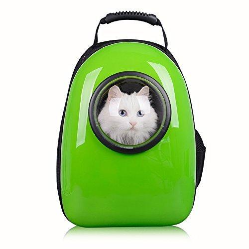 Petcomer Innovative Traveler Bubble Rucksack Transportboxen Airline Travel zugelassen Carrier umschaltbar Mesh Panel für Katzen und Hunde (Grün) (Tote Bubbles Tasche)