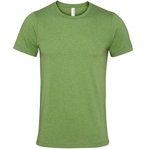 Jersey crew neck t-shirt Olive Bella Canvas Streetwear Shirts Manner Grün - Grün (Heather Green)