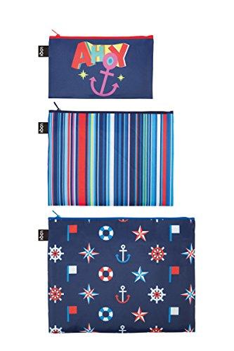 LOQI NAUTICAL Zip Pockets - Zip-Etuis