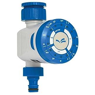Aqua Control C4200 – Programador de riego para grifo. Solo un botón para seleccionar múltiples programas preestablecidos. Con función de retraso de la hora de riego.