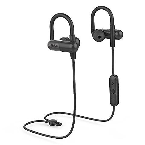 Écouteurs Bluetooth, JESBOD QY11 Ecouteur Bluetooth,Oreillettes Intra Auriculaire avec Microphone/Apt-X pour iPhone, Samsung, iPad et d'autres Appareils Bluetooth (Noir)