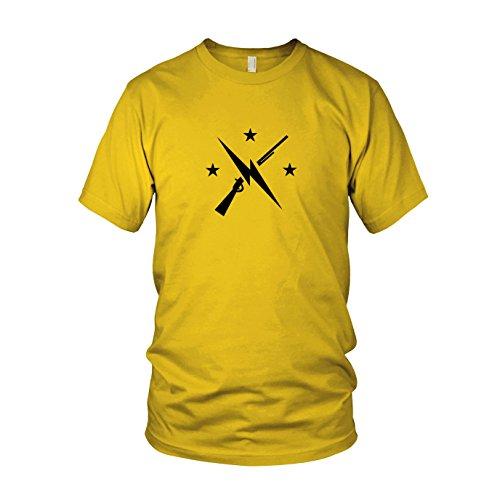 (Planet Nerd Commonwealth Fighters - Herren T-Shirt, Größe: XXL, Farbe: Gelb)