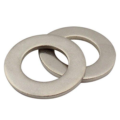 SC-Normteile | 100 Stück Unterlegscheiben Form A ( Beilagscheiben) | M6 | DIN 125 | rostfreier Edelstahl A2 ( V2A ) | SC125