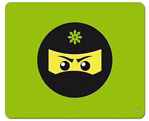 Preisvergleich Produktbild 1art1 109094 Gaming - Ninja Icon, Grün Mauspad 23 x 19 cm