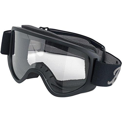 Brille Goggle Biltwell Moto 2.0Script Black schwarze Linse Transparent elastische Bandage Stil Café Racer Biker