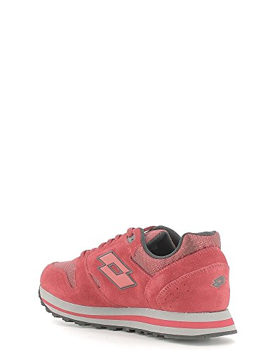 Lotto Trainer Viii NY, Chaussures de Sport Homme Multicolore - Rojo / Negro (Red Rsp / Blk)