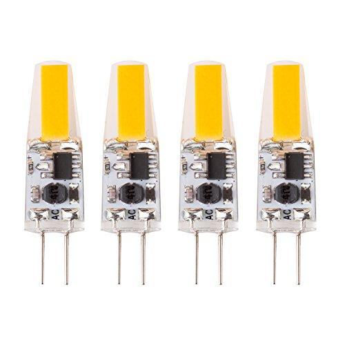 Topmax 4bombillas LED de 2W G4COB regulables, luz de color blanco cálido (3000K), 170lúmenes, CA/CC, 12V [Clase energética A ++]