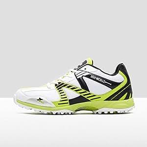 GRAY-NICOLLS Velocity Adult Cricket Shoe (Rubber Sole), White/Black/Green, UK8