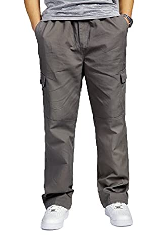 Fall/Winter Famous Fashionable Man Pants Male Plus Size Fat Padded Cotton Overalls Trousers grey XL