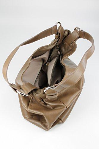 Belli in pelle nappa Italiana Borsa a mano shopper–libero colore a scelta–36x 30x 14cm (B x H x T) Fango