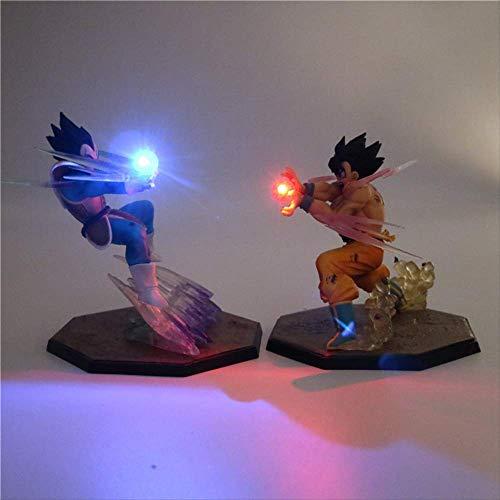 Dragon Ball Z Son Goku Anime Luz De La Noche Super Saiyan Pvc Acción Figura Coleccionables Diy Lámpara De Mesa 3D Modelo Dbz Juguete Para Niño Bebé