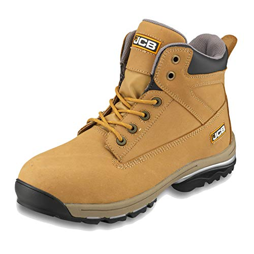 JCB Workmax Honey Waterproof Leather Steel Toe Safety Boots