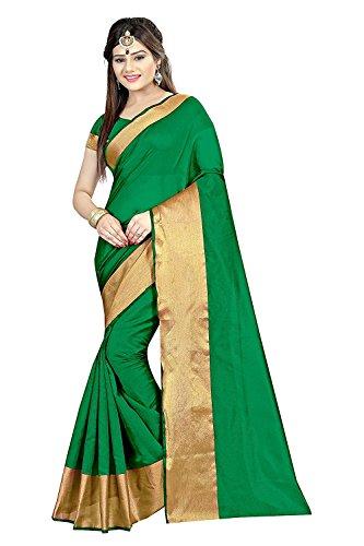 Clothfab Women's Silk Half Saree (Bandhani-21_Blue-Green)