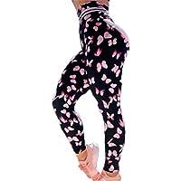 Lunule Pantalones Ajustados Mujer Deportivos de Cintura Alta Estampado Mallas Fitness de Correr Running Yoga Pantalones Leggins Deportes Casual Pantalones Largos para Entrenamiento Gimnasio