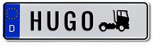 Geprägtes Namensschild zum Selbstgestalten  Witterungsbeständig  Vielfarbig  Ideale Geschenkidee | Individuelles Nummernschild, Aluminium-Schild | Autoschild mit Namen & Spruch selbst gestalten | Aluschild, Kfz-Kennzeichen-Schilder mit Wunschtext