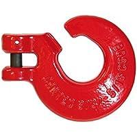 Schlinghaken mit Gabel 6/7mm für Kette 6/7mm, Güte 8plus, rot lackiert Achtung Staffelpreise (5 Stück)