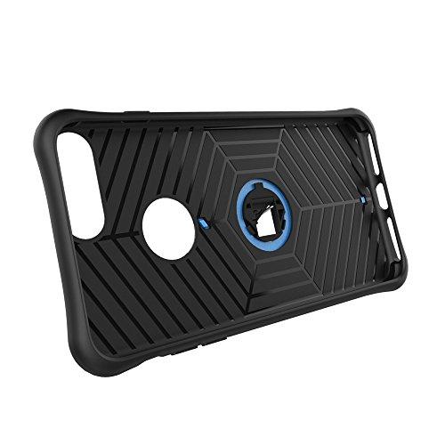 Meimeiwu Armatura Custodia Cover Doppio Strato TPU + PC Antiurto Protezione Goccia Difensore Custodia Protettiva Case per iPhone 8 Plus - Argento Blu