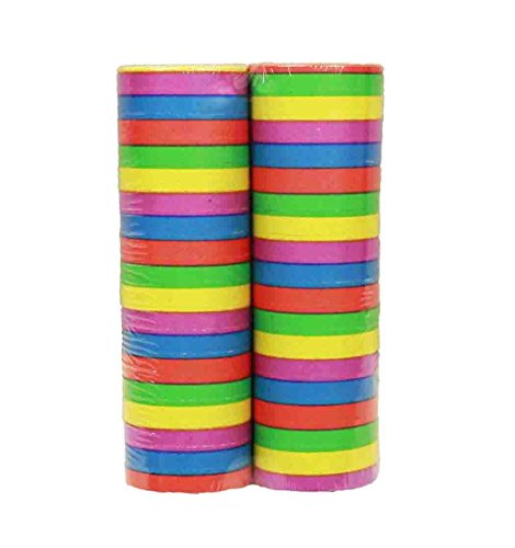 HAAC 2er Set Luftschlangen Farbe bunt 4 m für Feste Fasching Karneval