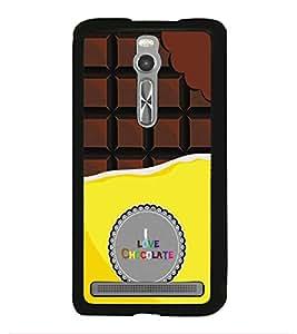 HiFi High Glossy Designer Phone Back Case Cover Asus Zenfone 2 ZE551ML ( I Love Chocolate )