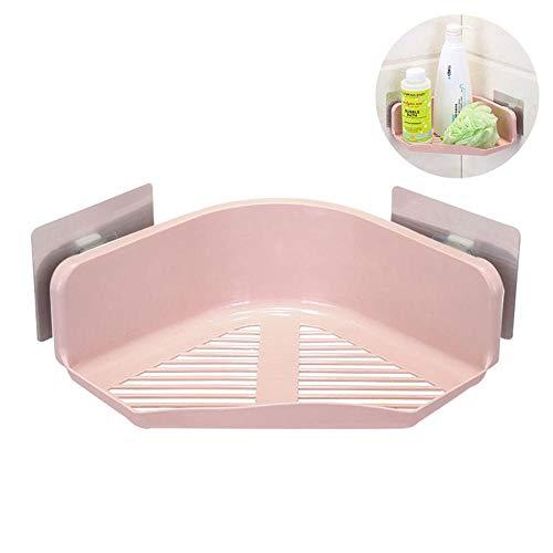 (MOGOI Eck Dusche Regal, Selbstklebend Wand montiert Lagerung Organizer mit Kein Bohren für Badezimmer, Küche Rose)