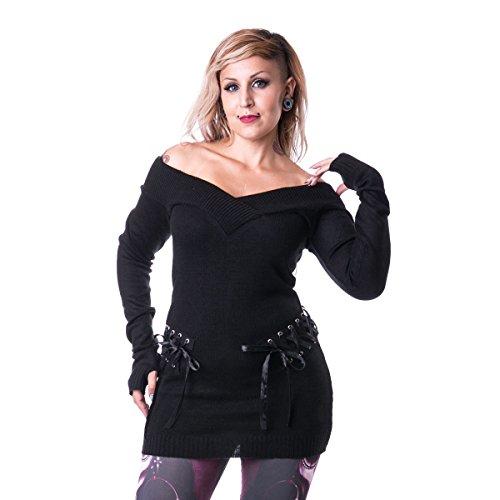 Vixxsin -  Maglione  - Maniche corte - Donna Nero  nero