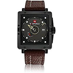 Man, quartz watch, fashion, personality, square, PU leather, M0123