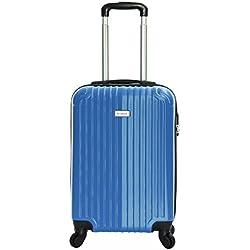 Slimbridge Borba maleta trolley cabina ABS - Equipaje de mano rígida y ligera con 4 ruedas. Aprobado por la mayoría de las aerolíneas Ryanair, EasyJet, Wizzair, Vueling y muchos más, Océano Azul