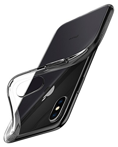 Cover iphone x, spigen [liquid crystal] custodia iphone x con protezione sottile e chiarezza premium per apple iphone x (2017) - trasparente - 057cs22118