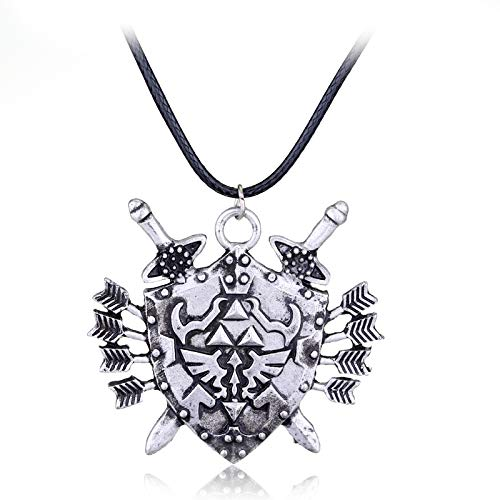 DADATU Halsketten für Herren Hot Game The Legend of Zelda Dark Links Hylian Shield Halace Metal Jewelry Gift Fans Chaveiro Necklace Cosplay for Men Women Women (Link Shield Kostüm)