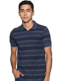 Max Men's Printed Slim Fit Polo