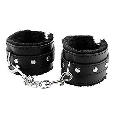 (KISSKISSMENEkiss630-02-Adjustable PU Handcuffs Ankle Bracelets)