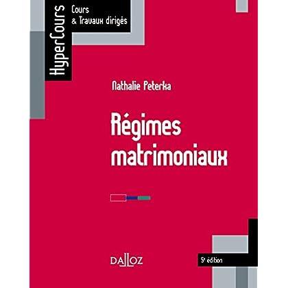 Régimes matrimoniaux - 5e éd.