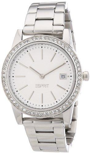 Esprit trinity exchange ES106112001 - Reloj analógico de cuarzo para mujer, correa de acero inoxidable color plateado