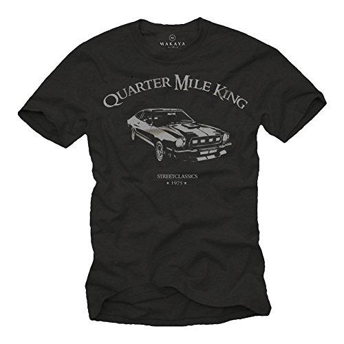 t-shirt-homme-noir-ford-mustang-quarter-mile-king-logo-grise-taille-s