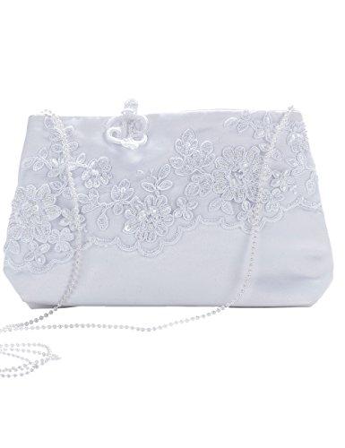 Princess Taufkleid Brauttasche aus Satin - M T13