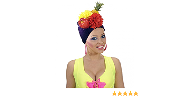 shoperama Miranda Casquette br/ésilien avec Motif Fruits Brazil Chapeau Obst Ananas Exotique Samba Karneval in Rio