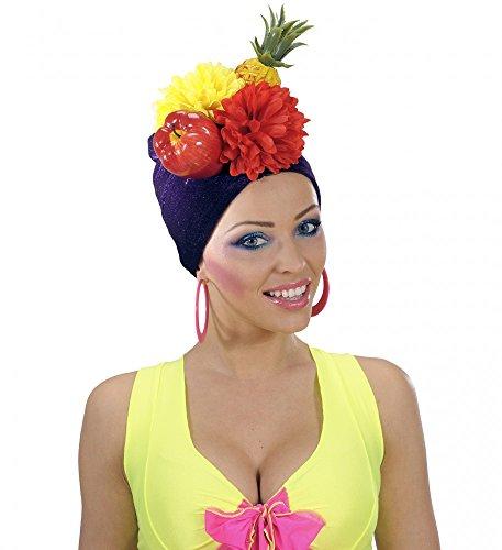 shoperama Brasilianische Kopfbedeckung Miranda mit Früchten Brazil Hut Mütze Obst Ananas exotisch Samba Karneval in ()
