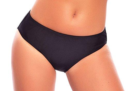 Verschiedene Bikini (Versandhandel Henry Musch-Malinowski Damen Schwimm-Badeslip/Bikini Slip/Badehose/Baderock mit integriertem Slip Schwarz Verschiedene Varianten und Größen f5384 Farbe: S4(sw) Bikini Slip Black, Gr. 56)