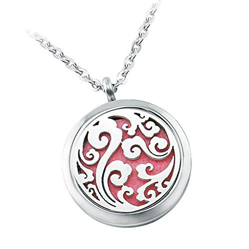 Baosity Collar Colgante Redondo Difusor de Perfume Accesorios de Moda para Mujer