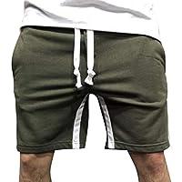 Uomo Fitness Pantaloni Casuale Pantaloni Sportivi da Allenamento con  Coulisse Colorblock Short Pantaloncini d18ac4063a6