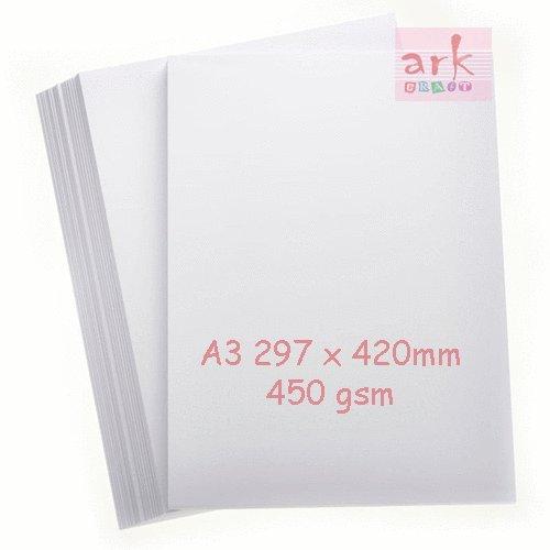A3weiße Karte 450g/m² (Vision Superior) 10Stück superdick -