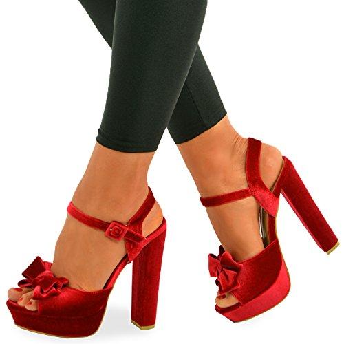 Cucu Fashion - Strap alla caviglia donna Red